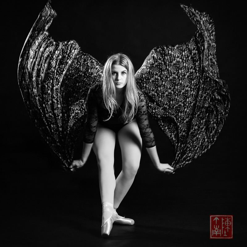 Dancer with Lace Cape